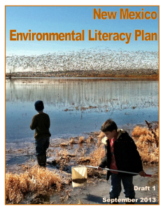 Cover of Environmental Literacy Plan Draft 1