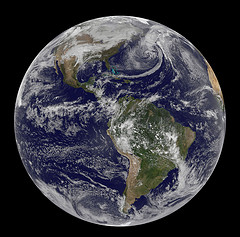 Photo of Earth by NASA Goddard Space Flight Center, gsfc/Flickr (CC-BY 2.0)